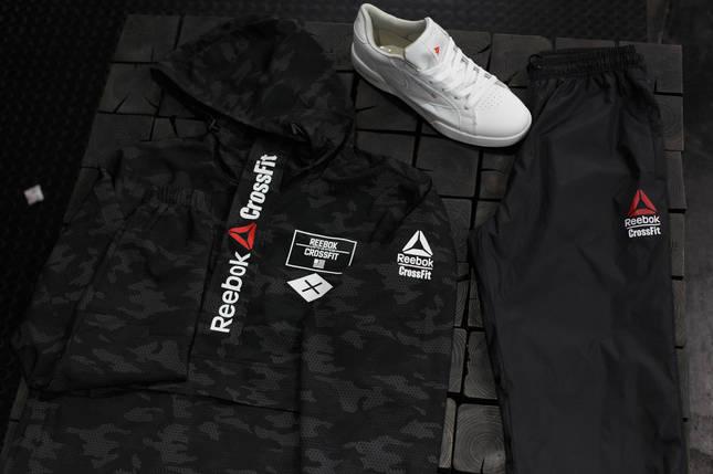 Мужской спортивный костюм Reebok Crossfit.Черный с серым, фото 2
