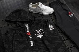 Мужской спортивный костюм Reebok Crossfit.Черный с серым, фото 3
