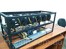 Майнинг ферма 6 карт 1070Ti 8GB GDDR5 Windforce Gigabyte наличие Харьков собрана работает