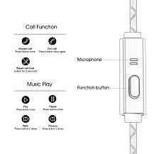 Стереофонические наушники Marsno M1 со встроенным микрофоном , фото 2