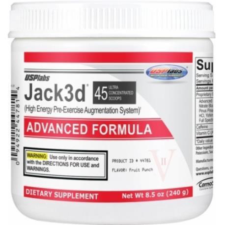Предтренировочный комплекс USPLabs Jack3d Advanced Formula 230 g