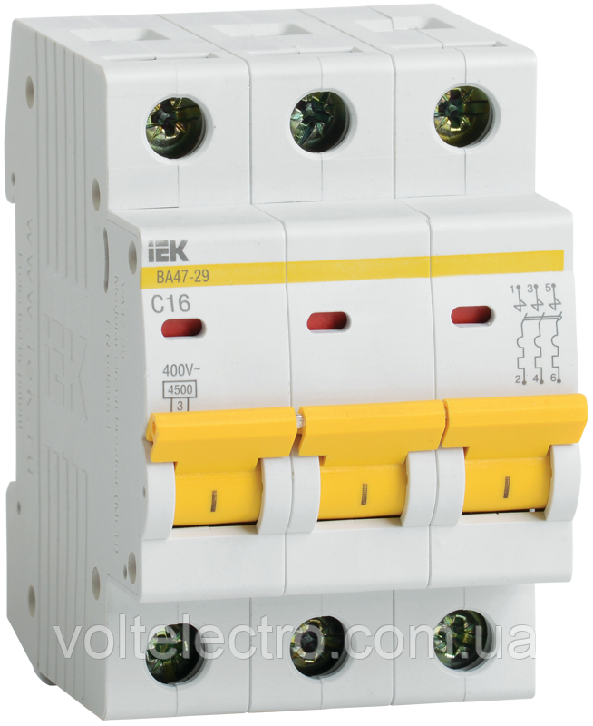 Автоматический выключатель ВА 47-29М 3Р 40А ІЕК