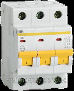 Автоматичний вимикач ВА 47-29М 3Р 6А ІЕК