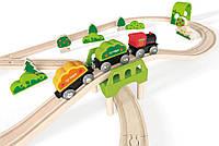 Hape.  Набор железной дороги Hape Лесное приключение (E3713)