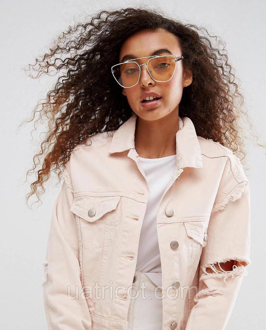 Женские солнцезащитные очки ретро с жёлтыми линзами