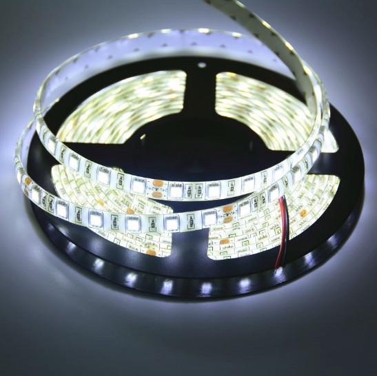 Світлодіодна стрічка LED вологозахищена, 24V, SMD5050, IP65, 60 д/м, білий холодний