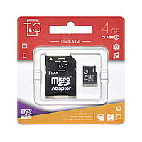 Карта памяти T&G Micro SD 4 Gb + переходник