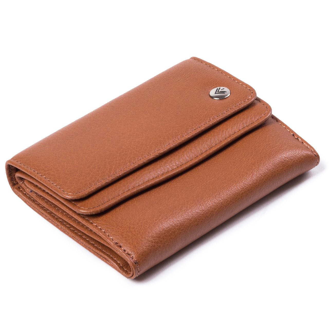 Женский кошелек кожаный коричневый Eminsa 2056-12-2
