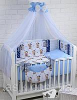 """Детский постельный комплект Asik 8 эл-в   """"МОРЯЧОК"""" № 286, сине-голубой, фото 1"""
