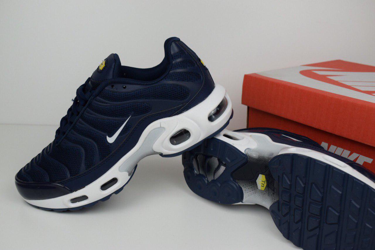 b9d8c9a2 Кроссовки женские Nike Найк TN Plus код товара OD-2485. Темно-синие с  белым, цена 1 190 грн., купить в Киеве — Prom.ua (ID#693799456)