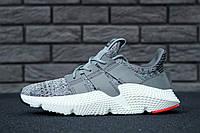 Мужские кроссовки Adidas Prophere Solid Grey Three Running White Solar Red CQ3023, фото 1