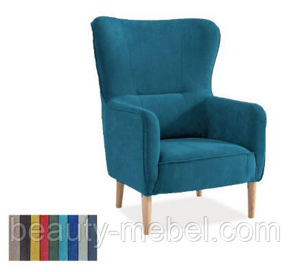 Дизайнерское мягкое кресло Signal Relax, бирюзовое