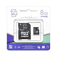 Карта памяти T&G Micro SD 8 Gb + переходник