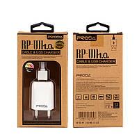 Сетевое зарядное устройство  REMAX PRODA RP-U11 (1A / 1USB) + cable iPhone 5S/6S