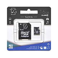 Карта памяти T&G Micro SD 16 Gb + переходник