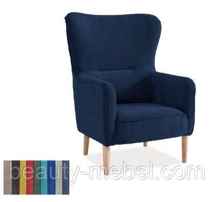 Дизайнерское мягкое кресло Signal Relax, темно-синий