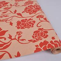 Бумага для упаковки подарков 10 м Красные розы