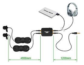 Петличная система, подвійна петличка, подвійний петличний мікрофон Comica CVM-D03 для камери/смартфона/GoPro, фото 2