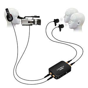 Петличная система, подвійна петличка, подвійний петличний мікрофон Comica CVM-D03 для камери/смартфона/GoPro