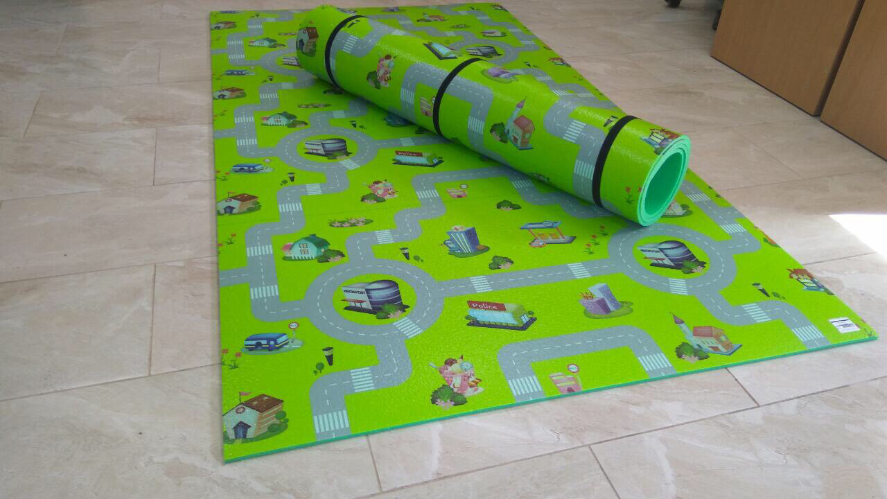 Коврик детский Дорога 2 м на 1,10 м 8 мм