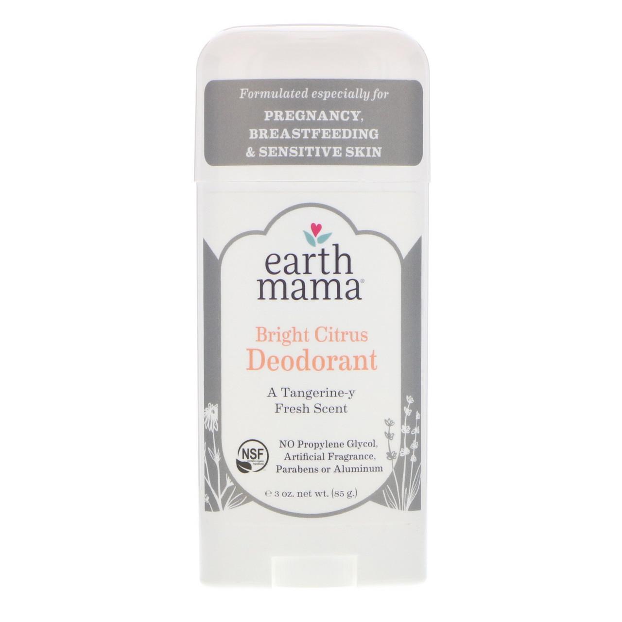 Earth Mama, Deodorant, Bright Citrus, 3 oz (85 g)