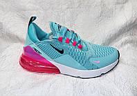Женские кроссовки Nike Air Max 270  голубые с розовым, фото 1