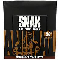 Universal Nutrition, Батончик Animal Snak, Насыщенный шоколад и арахисовое масло, 12 баточников, 3,3 унц. (94,6 г) каждый