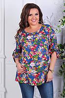 Женская блузка летняя батал 646.2 оптом