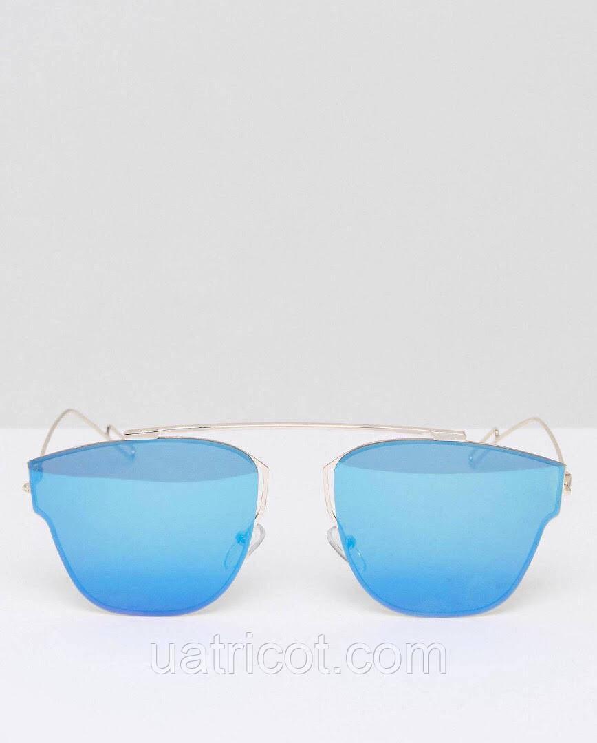 Женские солнцезащитные очки ультратонкие авиаторы Премиум класса с зеркальной линзой