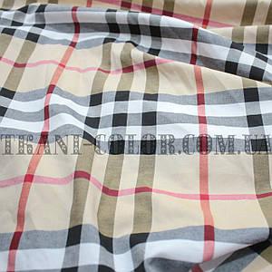 Рубашечная ткань принт клетка Барберри
