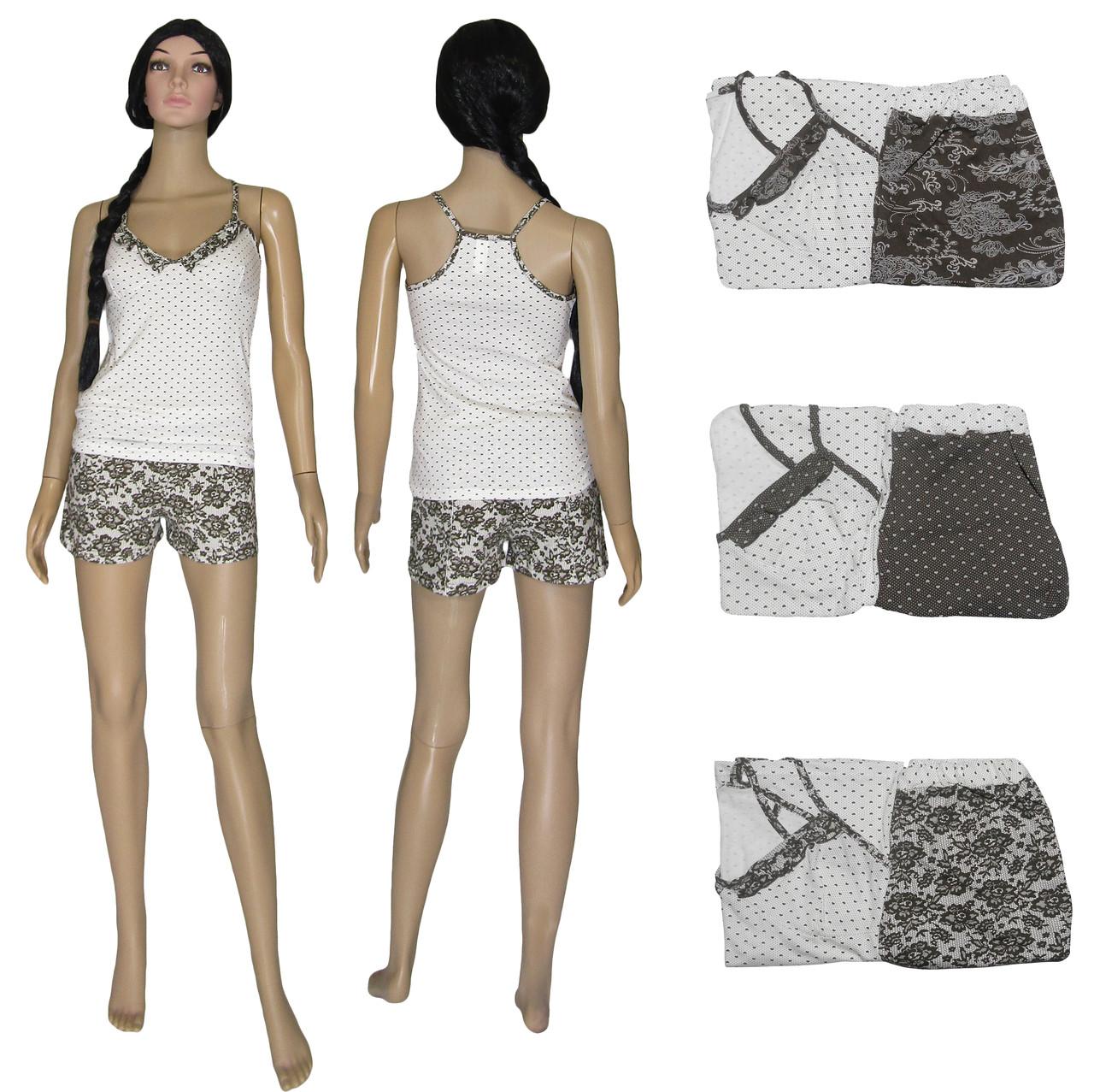 Пижама женская летняя 03223 Ameli, майка топ и шорты, р.р.42-50