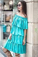 Женское платье с рюшами Bianka 42–48р. в расцветках