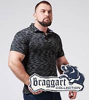 Braggart | Тенниска мужская большого размера. Хлопок 6658-1 черный