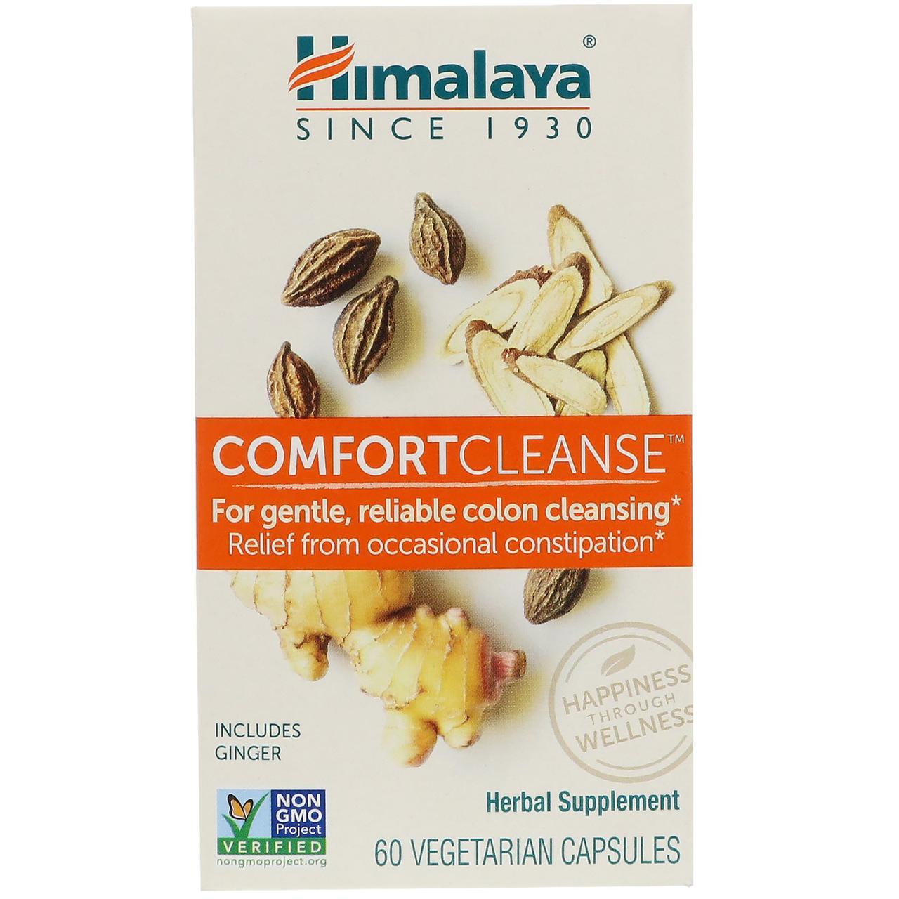 Himalaya, Comfort Cleanse, 60 вегетарианских капсул