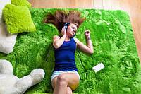 Ковер плюшевый зеленый 140x200 SHOCK , фото 1