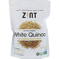 Z!NT, Органический премиум-продукт, белое киноа, цельное зерно, без сапонинов, 16 унц. (454 г)