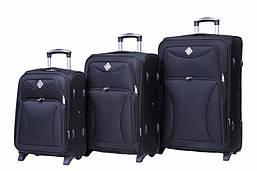 Набор чемоданов на колесах Bonro Tourist Черный 3 штуки