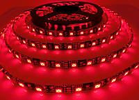 Светодиодная лента LED влагозащищённая, на черной основе, 12V, SMD5050, IP65, 60 д/м, красный, фото 1