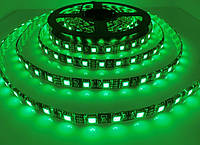 Светодиодная лента LED влагозащищённая, на черной основе, 12V, SMD5050, IP65, 60 д/м, зелёный, фото 1