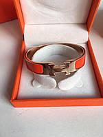 Модный женский браслет Hermes Narrow оранж (реплика), фото 1