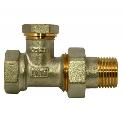 Вентиль радиаторный прямой KOER 1/2 низ, фото 2