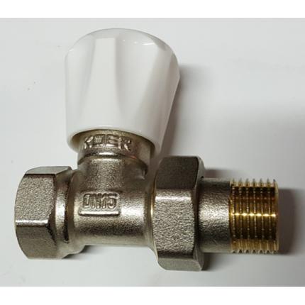 Вентиль радиаторный прямой KOER 1/2 верх, фото 2