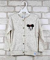 Кофта на пуговицах для девочки Disney молочная возраст 2 года (98см)