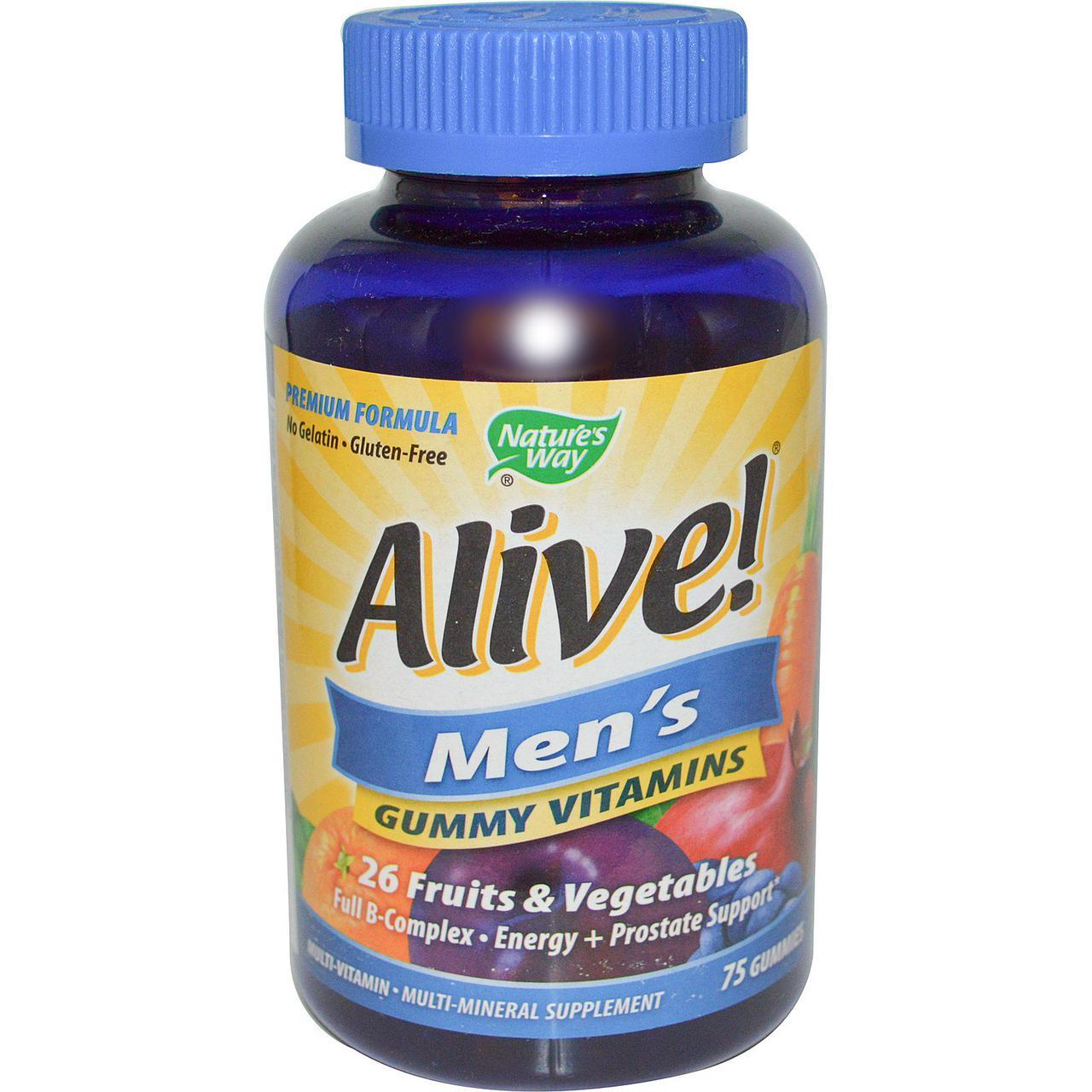 Nature's Way, Alive! Жевательные витамины для мужчин, 75 жевательных мармеладок