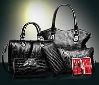 Набор женских сумок 6в1, черный