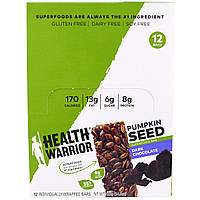 Health Warrior, Inc., Pumpkin Seed Superfood Bar, Dark Chocolate, 12 Bars, 1.23 oz (35 g)