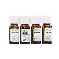 Aura Cacia, Discover Essential Oils Kit, 4 Bottles, .25 fl oz (7.4 ml) Each