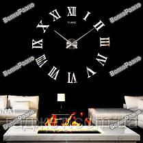 Часы настенные фигурные с объёмным эффектом и зеркальным цветом. Настенные часы., фото 3