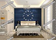 Часы настенные фигурные с объёмным эффектом и зеркальным цветом. Настенные часы., фото 2