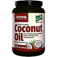 Jarrow Formulas, Сертифицированное натуральное кокосовое масло, выжато шнековым прессом, 32 унций (908 г)
